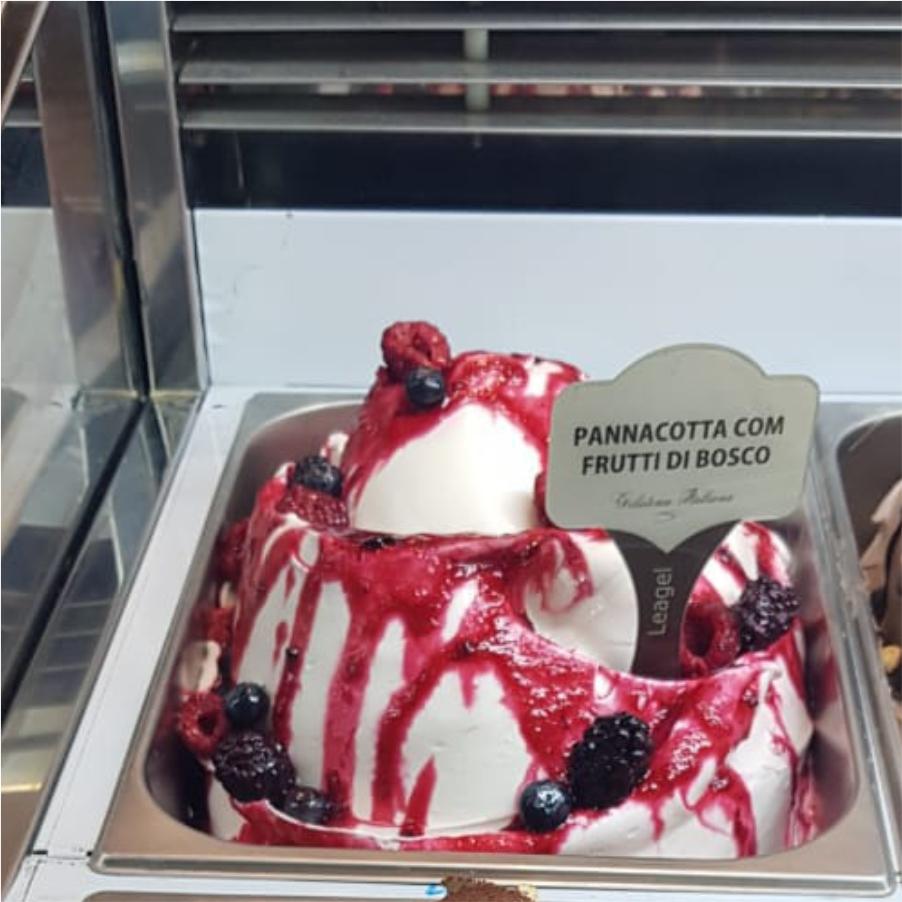 PannaCotta com Frutti di Bosco